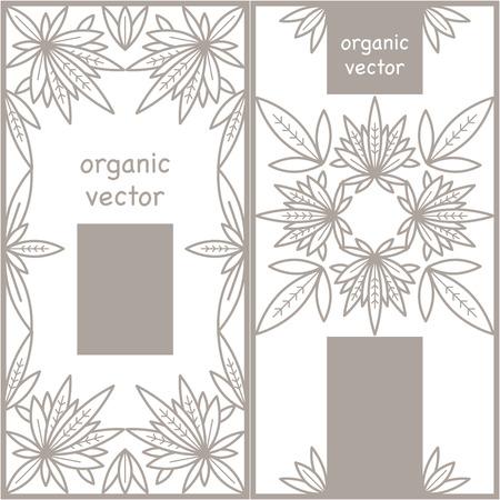 Réglez la conception du modèle organique. vecteur biologique. La conception moderne de l'emballage organique pour les produits naturels organiques, les magasins bio, cosmétiques bio, des aliments biologiques, vêtements bio.
