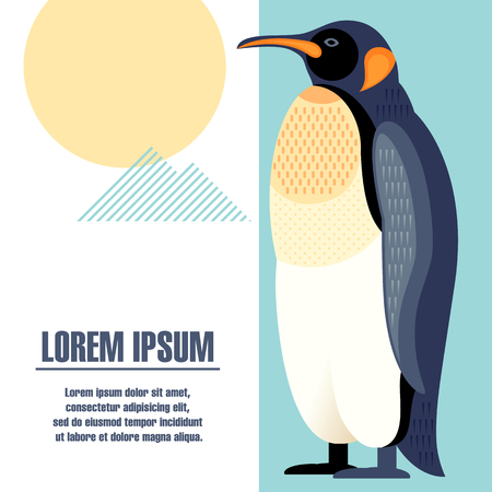 vector illustration of a penguin template posters placard brochure flyer book