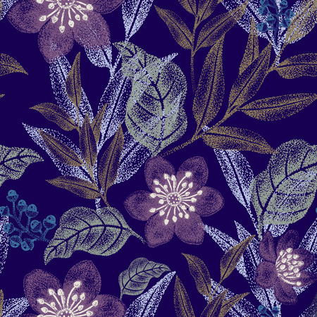 victorian wallpaper: Floral seamless pattern. Design for fabrics, textiles, wallpaper, paper. Vector. Victorian style.
