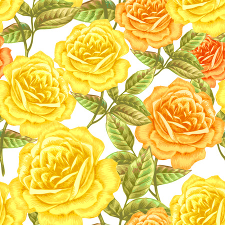 Floral seamless pattern. Flowers roses, peonies. Design paper, wallpaper, cards, invitations, packaging, textiles, interior decoration, upholstery fabrics. Vector. Victorian.
