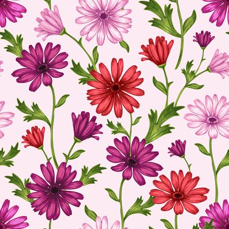 vector sin patrón con flores silvestres y mariposas. Para el fondo por telas, textiles, papel, fondos de escritorio, páginas web, invitaciones de boda. Estilo vintage. adornos florales.