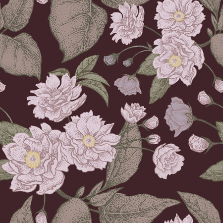 plum flower: Plum flower. Seamless vector pattern.