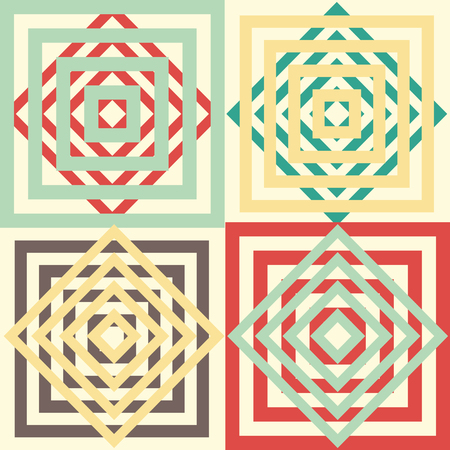 Seamless abstract vector background. Geometric pattern with optical elements. Illustration