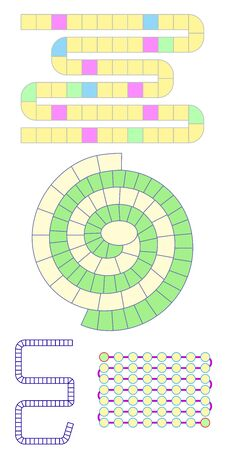 vector road for game vector zigzag and spiral