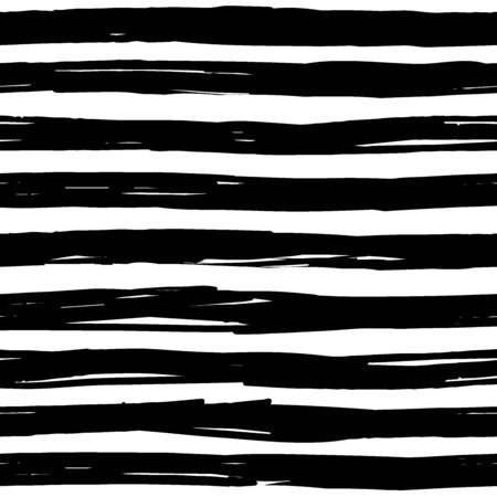 STRIPED SEAMLESS PATTERN hand-drawn irregular stripes Иллюстрация