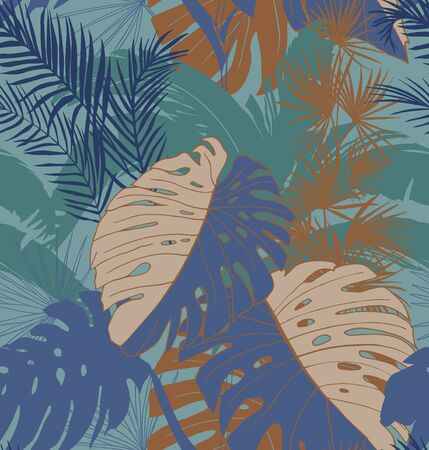 tropical seamless pattern of railway surface design print for fabric