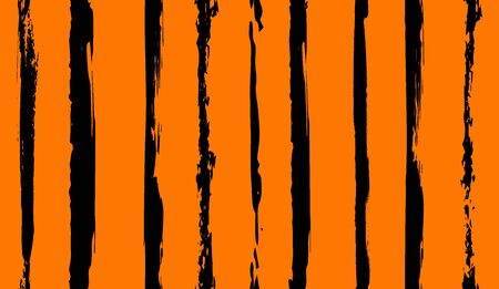 irregular vertical striped pattern in tiger colors for surface and fabric design