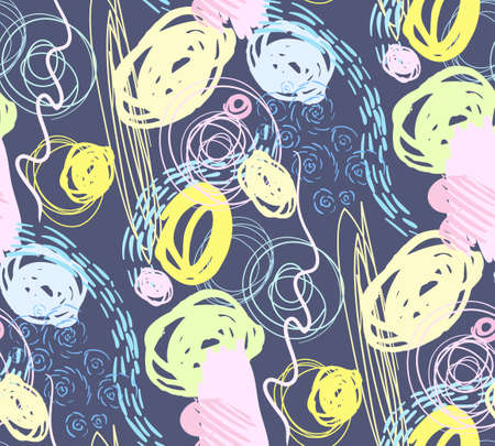 modern abstract bright dizan surface seamless pattern for kids goods 向量圖像