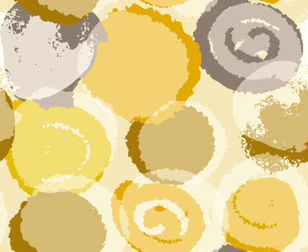 seamless pattern in boho style in natural shades with irregular circles 向量圖像