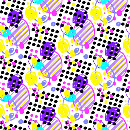 modern fun geometric abstract seamless pattern