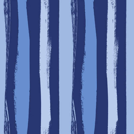 drawn pattern with vertical irregular blue and dark blue stripes painted in gouache