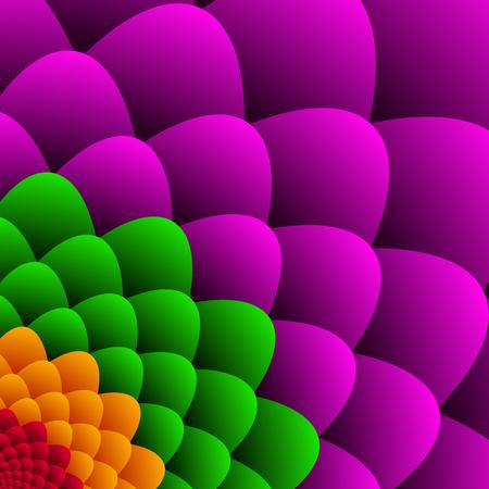 Flor abstracta del vector con hojas de colores Ilustración de vector