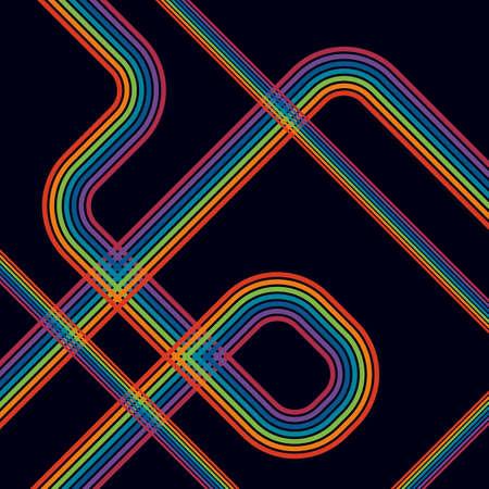 disco background: retro background of lines. retro background in grunge style