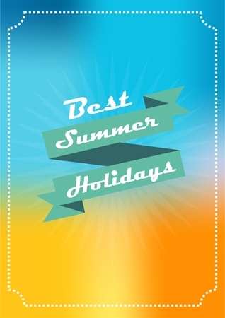 summer background banner with the inscription in summer colours with creative design Illustration