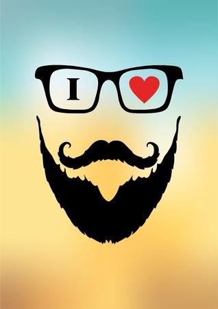 groomed: a man with a beard and a banner I love the beard