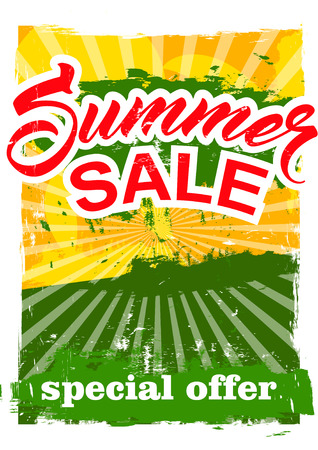 big summer sale.  background sale. special offer. background in grunge style. Illustration