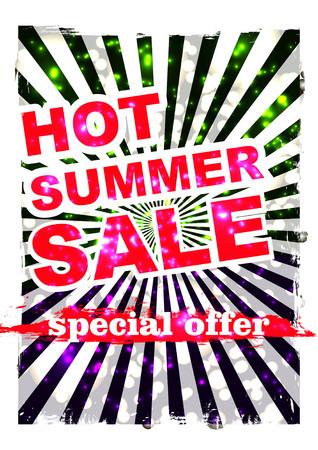 big summer sale.background sale. special offer. background in grunge style. Illustration