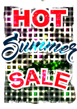 deduction: big summer sale.  background sale. special offer. background in grunge style. Illustration