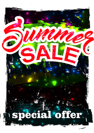 inexpensive: big summer sale.  background sale. special offer. background in grunge style. Illustration
