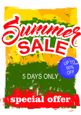 trade off: big summer sale.  background sale. special offer. background in grunge style. Illustration