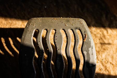 Greasy kitchen spatula