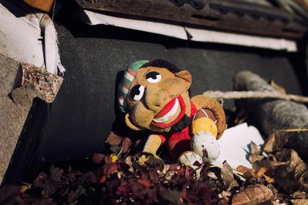 abandoned: Abandoned childs toy