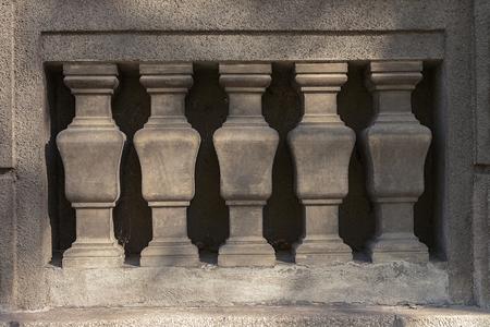 Stone pillar fence