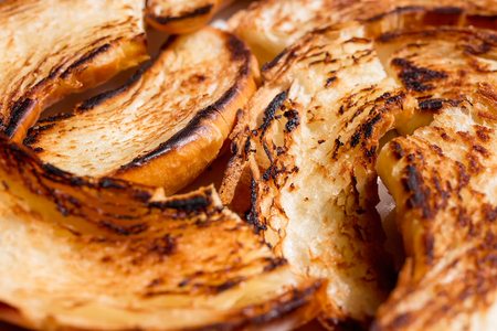 Close up of toasted bagels Stock Photo - 101342215