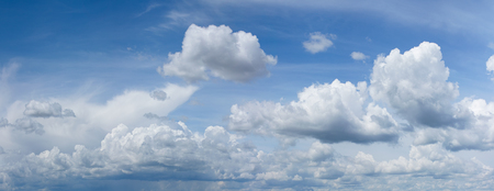 Beautiful white fluffy clouds on a blue sky Stock Photo - 102034404
