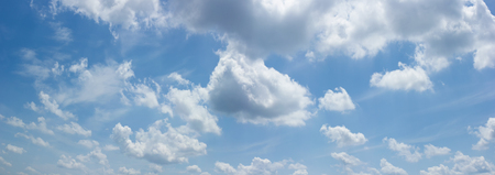 Beautiful white fluffy clouds on a blue sky on a sunny summer day Stock Photo - 103905839