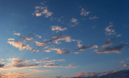 Sunset sky with some sparse clouds