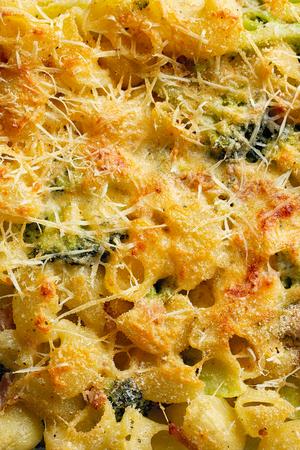 Pasta and broccoli casserole close up Stock Photo - 105940114