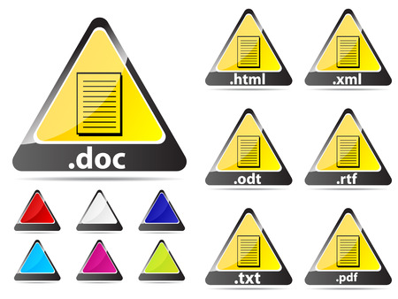 document extension icons Vector