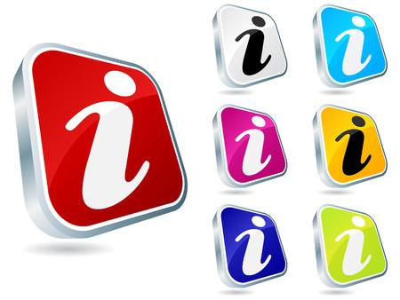 informer: information buttons different colors vector illustration Illustration