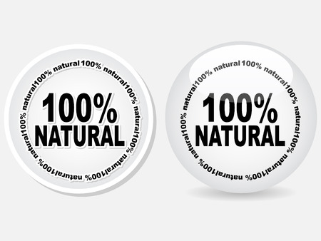 100% natural web buttons  Stock Vector - 6231449