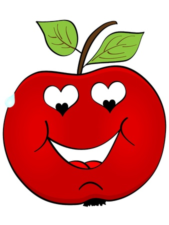 apple in love Vector