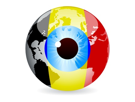 eye of belgium Stock Vector - 10043556