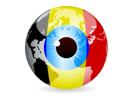 eye of belgium Stock Vector - 10043556