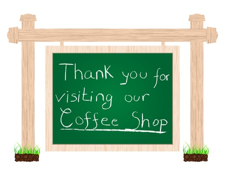 thank you for visiting our coffee shop Stock Vector - 10043552
