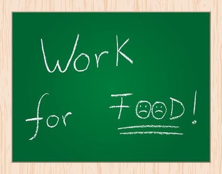 work fot food Stock Vector - 10043573