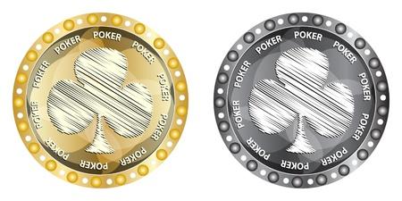 poker elements clover Stock Vector - 10288363