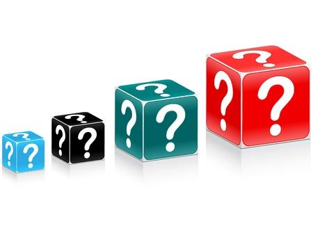 whose: tabella in box domanda Vettoriali