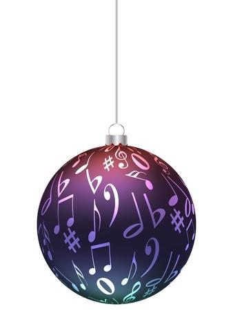 musical ornaments: christmas globe