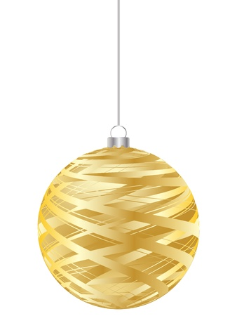 crystalline gold: christmas globe