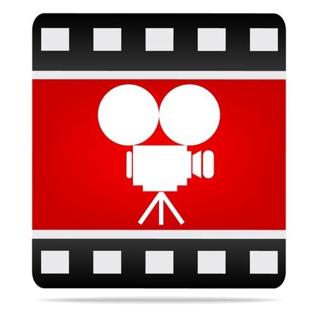 кинематография: Фильм значок камеры Иллюстрация