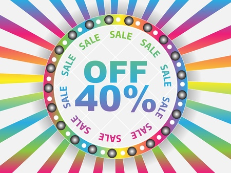 discount coupon: forty percent discount Illustration