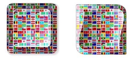 global keyboard Vector