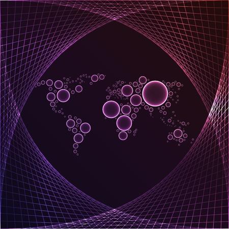 purple world map Stock Vector - 10288760