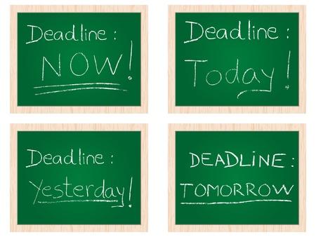 procrastination: deadline concept Illustration