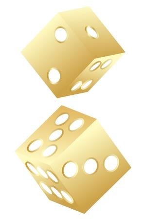 golden dice Vector